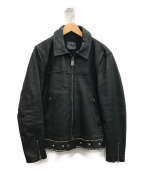 nano・universe×HTC(ナノユニバース×エイチティーシー)の古着「スタッズシングルライダースジャケット」|ブラック