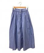 Gymphlex(ジムフレックス)の古着「マルチストライプギャザースカート」 ブルー
