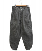 gourmet jeans(グルメジーンズ)の古着「スナップブッシュパンツ」|グレー