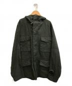 C.P COMPANY(シーピーカンパニー)の古着「パレットリネンマイルゴーグルジャケット」|カーキ