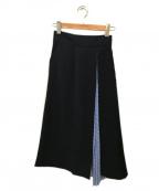 ELENDEEK(エレンディーク)の古着「サイドプリーツスカート」|ネイビー
