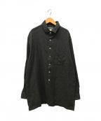 YohjiYamamoto pour homme()の古着「コットンストライプシャツ」|グレー