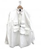 DAIWA PIER39(ダイワ ピアサーティンナイン)の古着「Tech Anglers Shirts L/S」 ホワイト