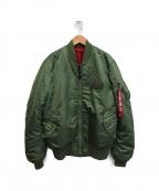 ALPHA(アルファ)の古着「MA-1ジャケット」|カーキ