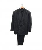 Jean Paul Gaultier homme(ジャンポールゴルチェオム)の古着「リネンセットアップダブルスーツ」 ブラック