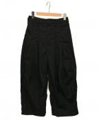 SHINYA KOZUKA(シンヤコズカ)の古着「HIGH DENSITY TWILL BAGGY PANTS」|ブラック