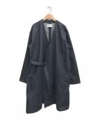 JOHNBULL(ジョンブル)の古着「ノーカラーデニムコート」|インディゴ