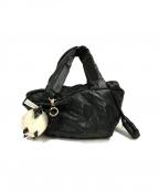 SEE BY CHLOE(シーバイクロエ)の古着「ナイロンハンドバッグ」|ブラック