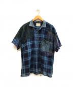 Porter Classic(ポータークラシック)の古着「リメイクシャツ」|インディゴ