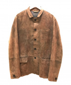ALL SAINTS()の古着「ゴートレザージャケット」|ブラウン