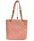 CHANEL(シャネル)の古着「ココマークチェーンショルダーバッグ」|ピンク