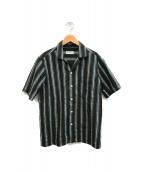 ()の古着「ストライプシャツ」|カーキ