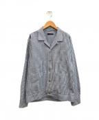THE GIGI(ザ・ジジ)の古着「シアサッカーシャツジャケット」|ブルー×ホワイト