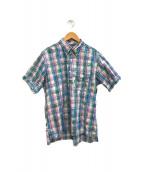 ()の古着「チェックBDプルオーバーシャツ」|ブルー