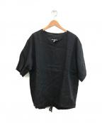 MONITALY(モニタリー)の古着「リネンクルーネック プルオーバー」|ブラック