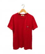 maison kitsune(メゾンキツネ)の古着「ポケットTシャツ」|レッド