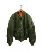 ALPHA INDUSTRIES(アルファインダストリーズ)の古着「MA-1ジャケット」|グリーン