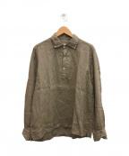 Errico Formicola(エリコフォルミコラ)の古着「プルオーバーリネンシャツ」|ブラウン