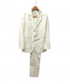 CARUSO(カルーゾ)の古着「コットン3Bセットアップスーツ」|ホワイト