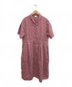 bulle de savon(ビュル デ サボン)の古着「ラミーオープンカラーワンピース」|ピンク