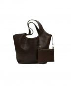 genten(ゲンテン)の古着「ポーチ付きレザーハンドバッグ」|ブラウン