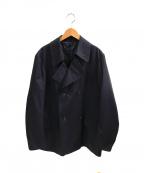 Martin Margiela 10(マルタンマルジェラ 10)の古着「ショートトレンチコート」|ネイビー
