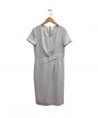 COUP DE CHANCE(クード シャンス)の古着「クロスタック入り半袖ワンピース」|グレー