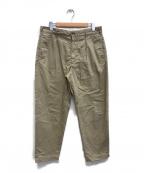 Engineered Garments(エンジニアドガーメンツ)の古着「タックチノパン」|ベージュ