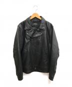 AVIREX(アヴィレックス)の古着「ダブルブレストライダースジャケット」|ブラック