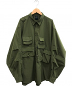 DAIWA PIER39(ダイワ ピアサーティンナイン)の古着「Tech Angler's Shirts L/S」 オリーブ