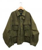 DAIWA PIER39(ダイワ ピアサーティンナイン)の古着「Tech Jungle Fatigue Jacket」 オリーブ