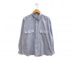 Porter Classic(ポータークラシック)の古着「ロールアップシャツ」|スカイブルー