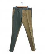 PT01(ピーティーゼロウーノ)の古着「パンツ」 カーキ×ベージュ