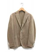 ()の古着「ウォッシュコットン3Bアンコンテーラードジャケット」 ベージュ