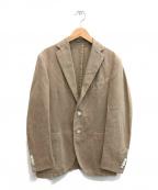 BOGLIOLI(ボリオリ)の古着「ウォッシュコットン3Bアンコンテーラードジャケット」|ベージュ