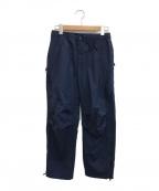 DESCENTE(デサント)の古着「6 POCKET PANTS」 ネイビー