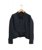 ()の古着「デザインステッチジャケット」 ブラック