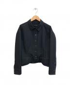 HIROKO KOSHINO(ヒロコ コシノ)の古着「デザインステッチジャケット」 ブラック
