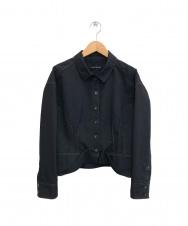 HIROKO KOSHINO (ヒロコ コシノ) デザインステッチジャケット ブラック サイズ:38