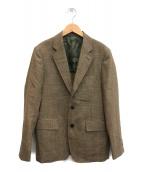 ()の古着「シェットランドウールモヘヤ段返り3Bテーラードジャケット」 ブラウン