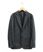 TOMORROW LAND(トゥモローランド)の古着「ストレッチフランネル2Bテーラードジャケット」|グレー