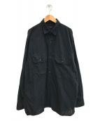 ()の古着「21SSベタシャン CPOシャツ」 ブラック