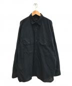 COMOLI(コモリ)の古着「21SSベタシャン CPOシャツ」 ブラック