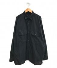 COMOLI (コモリ) 21SSベタシャン CPOシャツ ブラック サイズ:3