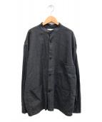 ()の古着「COVER ALL SHIRT - silk linen」 グレー