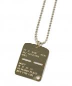 1017 ALYX 9SM(アリクス)の古着「ゴールドミリタリータグネックレス」|ゴールド