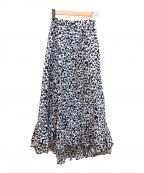MARIHA(マリハ)の古着「海辺のスカート」|ネイビー×ホワイト