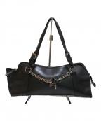 Christian Dior(クリスチャン ディオール)の古着「レザーボストンバッグ」|ブラック