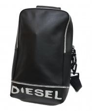 DIESEL (ディーゼル) ペイント調レザーボディーバッグ ブラック 未使用品