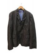 ()の古着「リネン混テーラードジャケット」 グレー